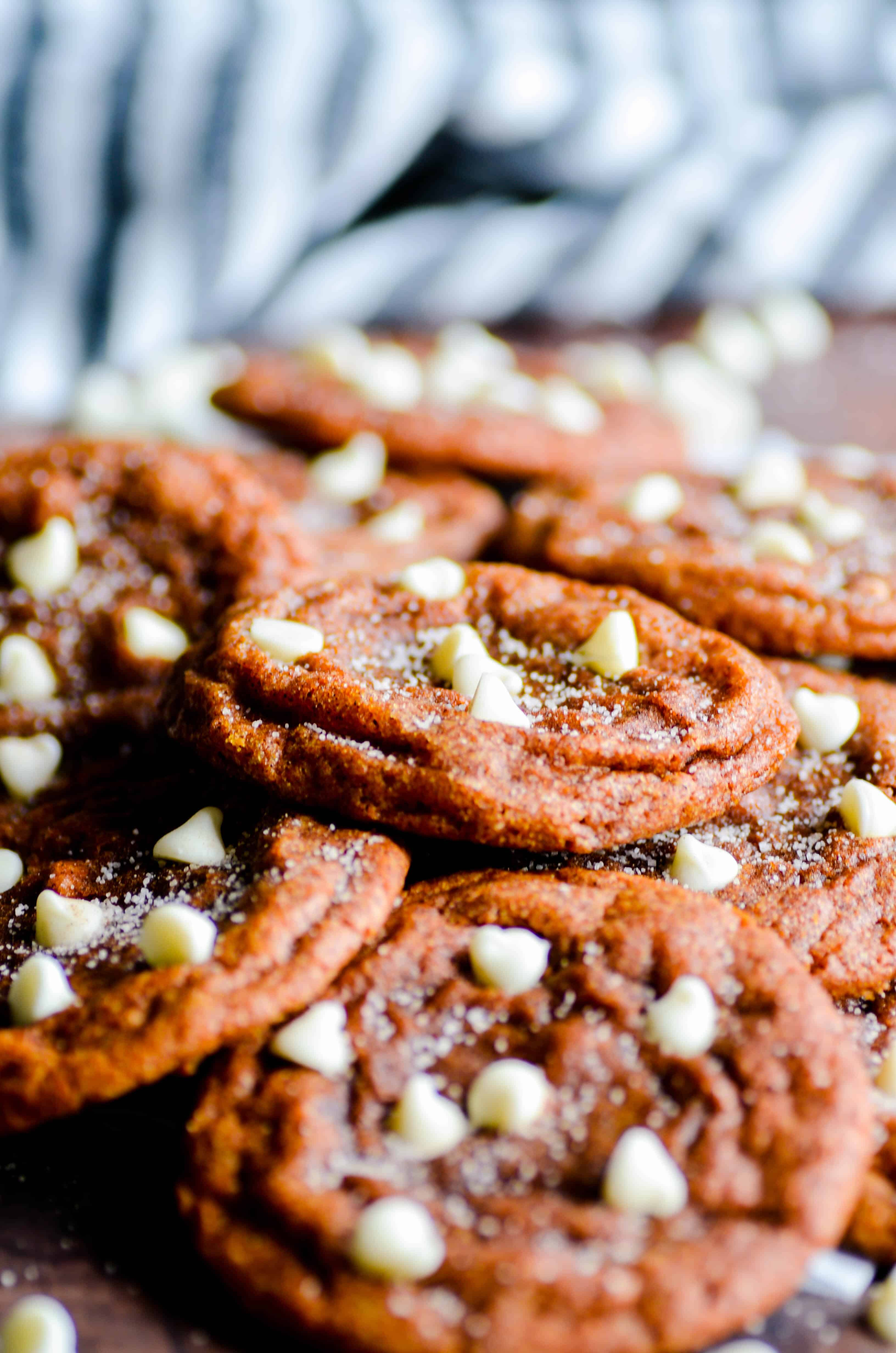My very favorite recipe for pumpkin cookies made over into White Chocolate Chip Pumpkin Snickerdoodles. These are SO GOOD!