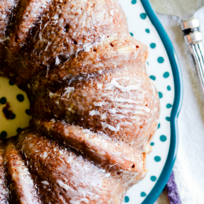 My family is obsessed with this Chocolate Chip Banana Bundt Cake!
