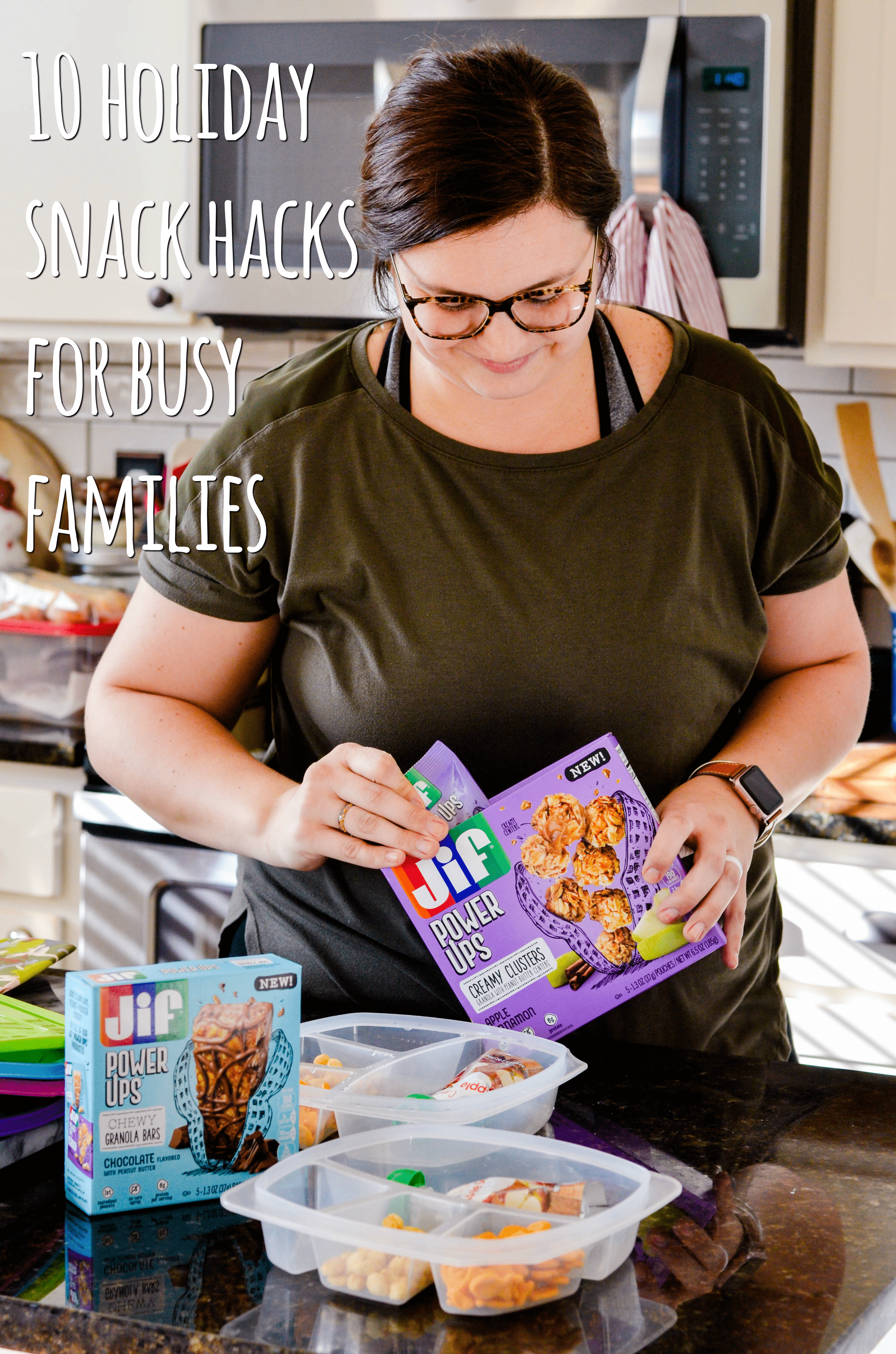 We know the holidays are a busy time for families, so I've teamed up with Jif® Power Ups at Publix™ to bring you 10 Holiday Snack Hacks for your busy family this holiday season!