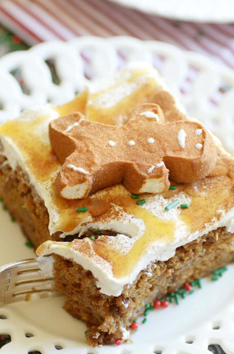 Gingerbread Poke Cake
