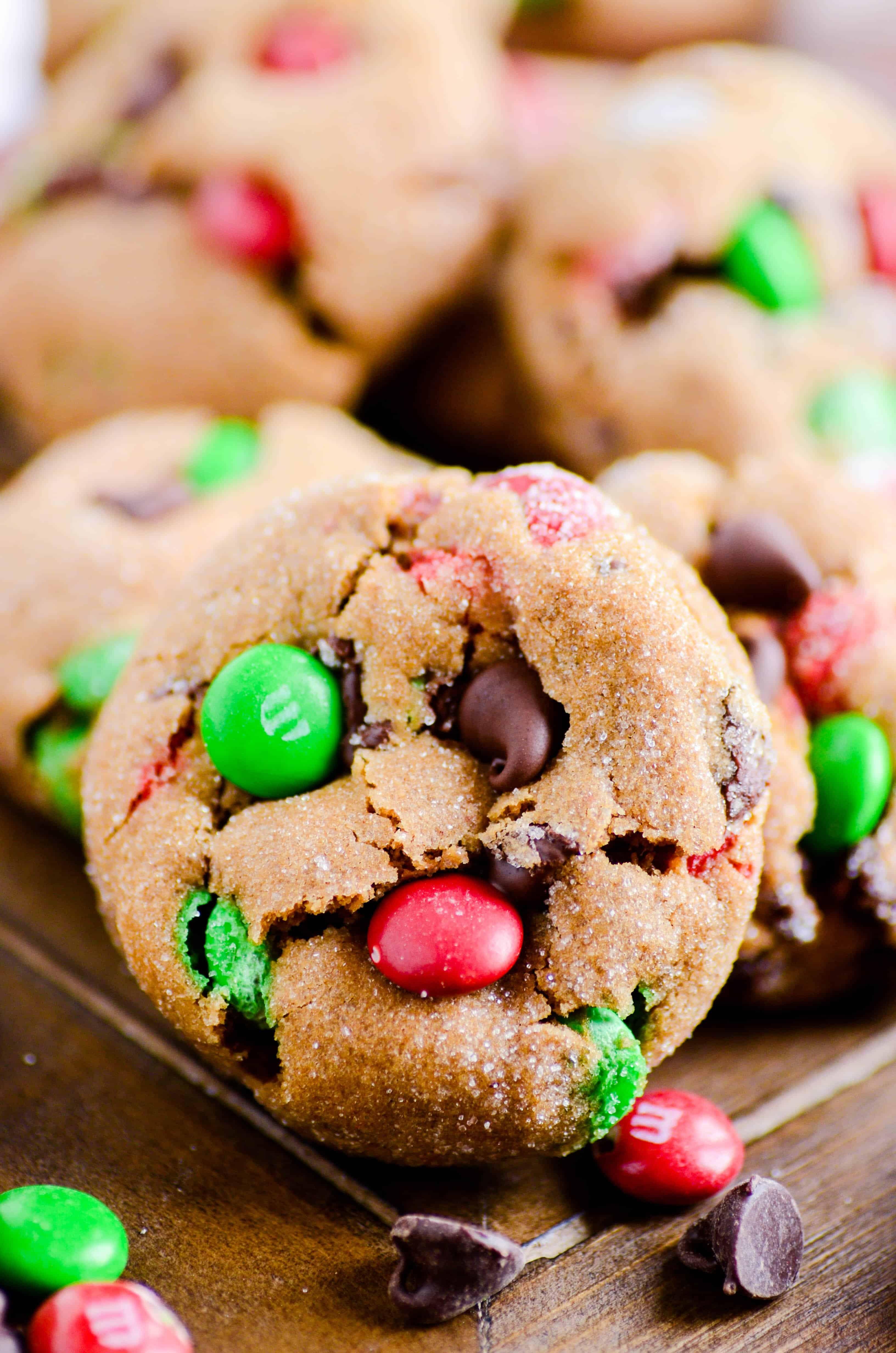 Gingerbread M&M Cookies