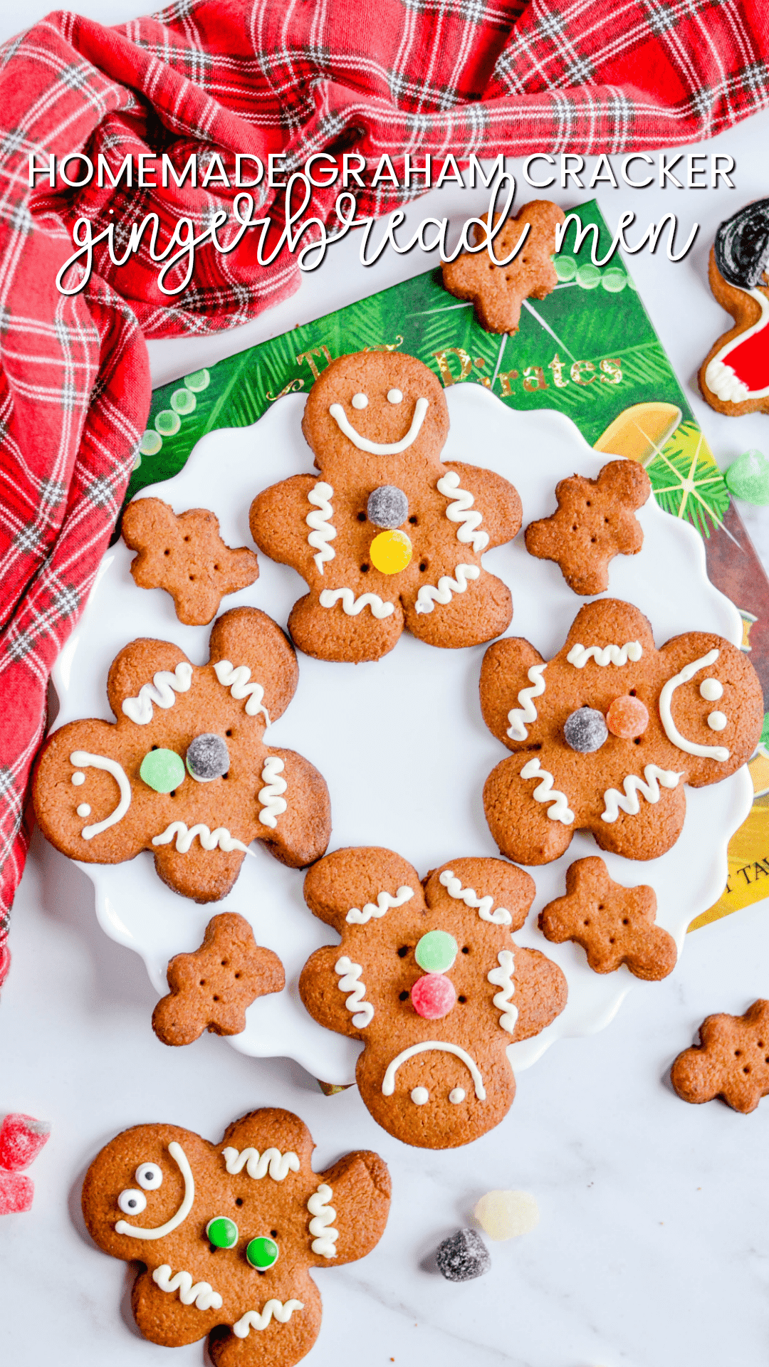 If you love the idea of adorable homemade Gingerbread Men Cookies (minus the gingerbread!), then these Homemade Graham Cracker Gingerbread Men Cookies are for you.