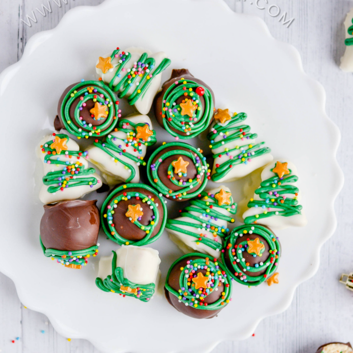 Real sugar cookies whipped into a delicious truffle filling covered in chocolate.