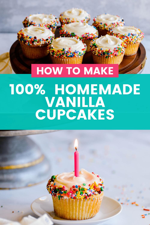 Classic Vanilla Cupcakes From Scratch Recipe