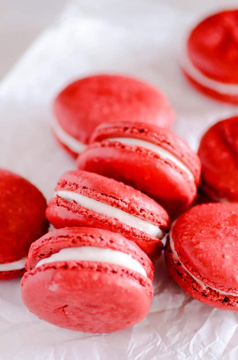 Easiest Ever Red Velvet Macarons
