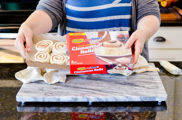 These Maple Bacon Cinnamon Rolls are unbelievably easy, melt-in-your-mouth delicious, and so soft and fluffy thanks to my secret ingredient-- Rhodes AnyTime! Cinnamon Rolls.
