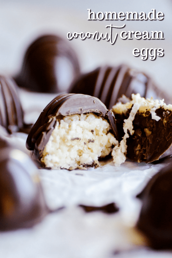 These Homemade Coconut Cream Filled Eggs are so much easier to make than you would think! Made with simple and easy-to-find ingredients, you could have these made and ready to eat about 30 minutes.