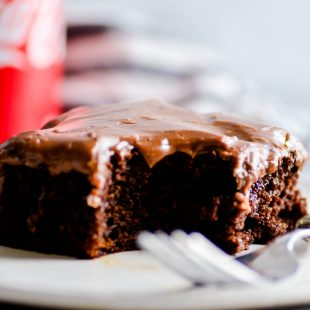 This Coca-Cola® Cake is a classic Southern chocolate cake with the best-ever chocolate frosting. A must-make for any summer potluck!