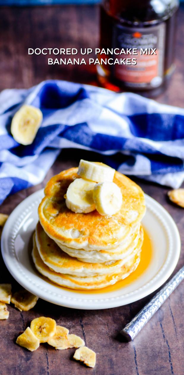 Doctored Up Pancake Mix - Banana Pancakes