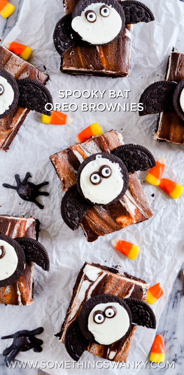 Spooky Bat Oreo Brownies