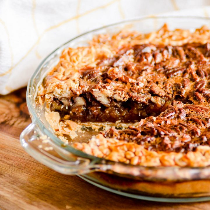 This Southern Pecan Pie has a boiled filling which makes it extra thick with a caramel-like texture and flavor.