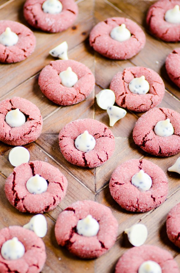 Red Velvet Cookies & Cream Kiss Cookies