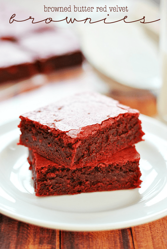Browned Butter Red Velvet Brownies