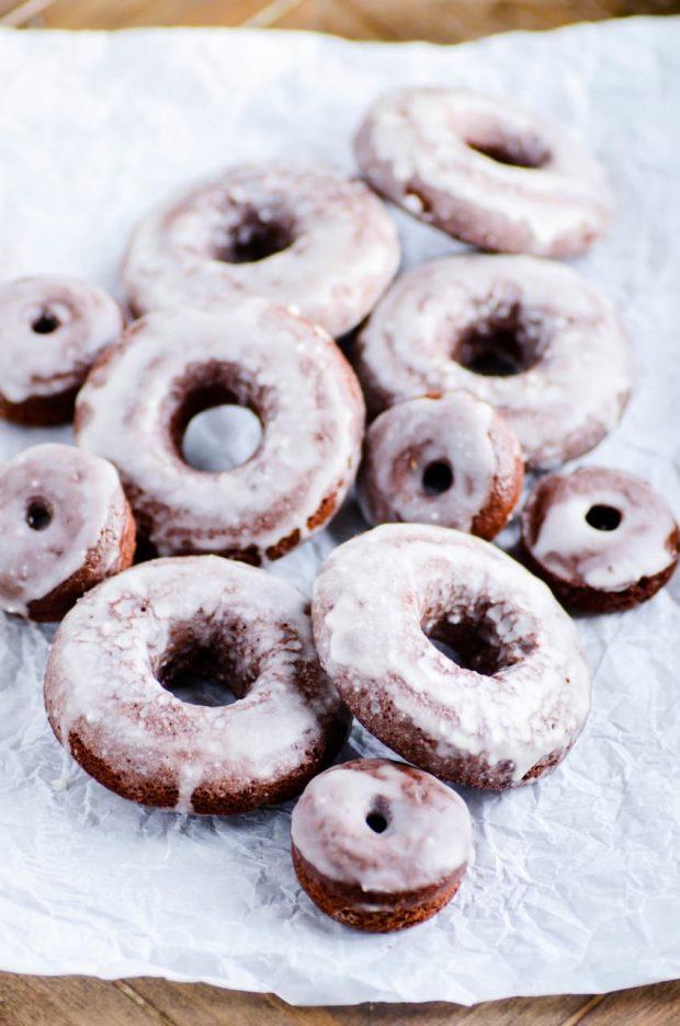 Devil's Food Cake Baked Donuts