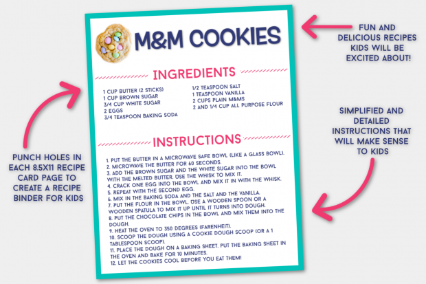Free Printable Recipe Cards for Kids