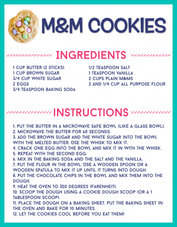 Free Printable Recipe Card for Kids