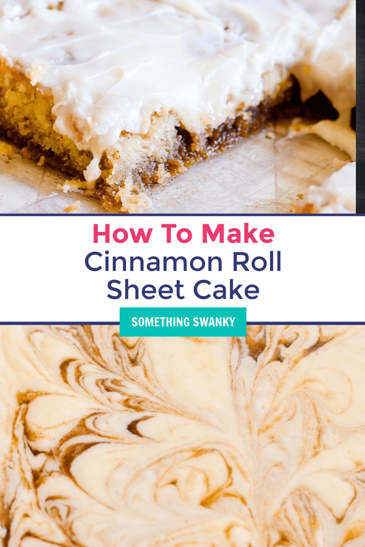How to Make Cinnamon Roll Sheet Cake