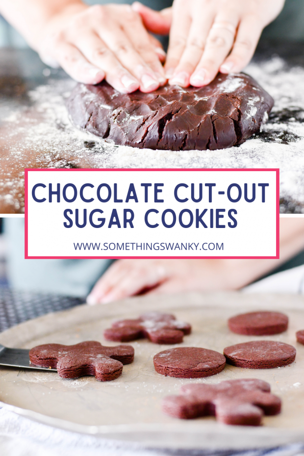 Cut-out Chocolate Sugar Cookies