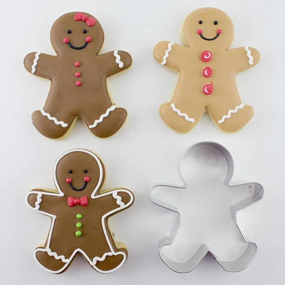 3-Piece Gingerbread Man Cookie Cutter Set