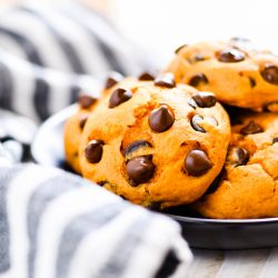 3-ingredient Pumpkin Chocolate Chip Cookie Recipe