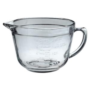 Glass Pitcher Batter Bowl
