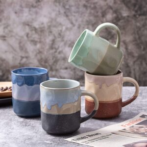 4-piece Ceramic Lava Mug