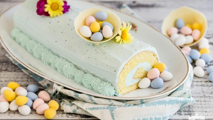 Speckled Easter Egg Roll Cake imperial