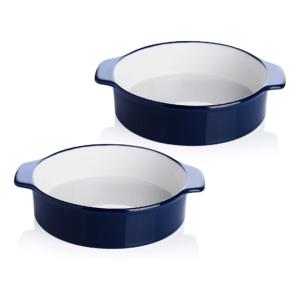 Porcelain 8-inch Round Cake Pan