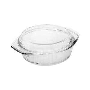 8-inch Round Glass Casserole Dish