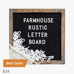 10×10 Letterboard