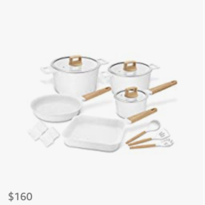 Non-stick Marble-coated Cooking Set
