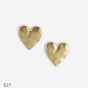 Lucky Brand Heart Stud Earrings