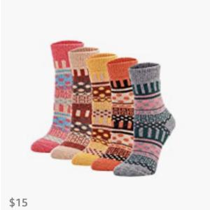 Knit Wool Crew Socks