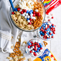 Red, White, And Blue Popcorn Mix