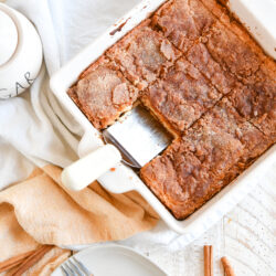 Churro Cheesecake Bars are a quick and easy dessert recipe made with six simple ingredients you probably already have on hand