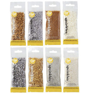 Wilton Silver And Gold Sprinkle Set