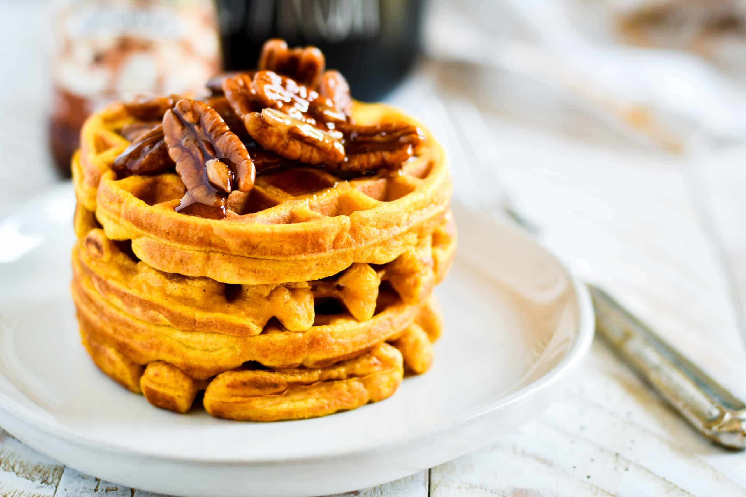 Single Serve Pumpkin Pie Waffles