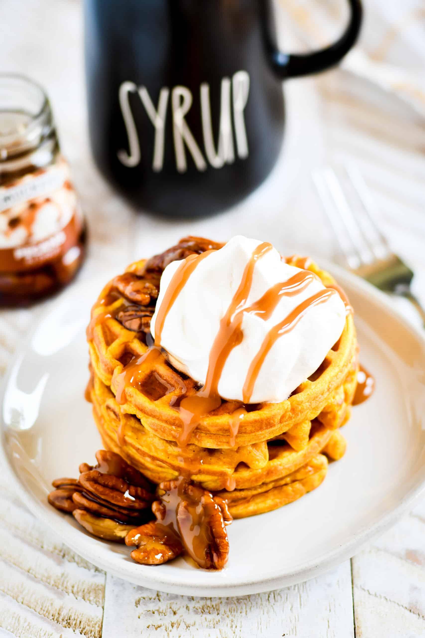 Single Serve Pumpkin Waffles